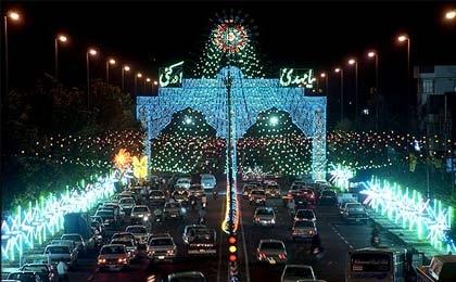 ایران اسلامی غرق در شادی سالروز میلاد منجی عالم بشریت