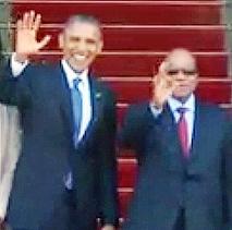 کنفرانس خبری مشترک اوباما و جاکوب زوما در پرتوریا