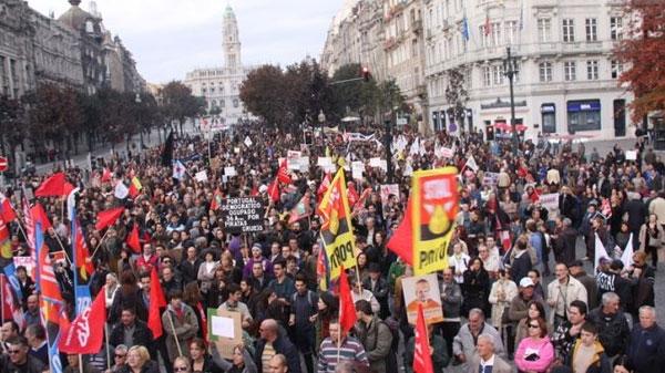 عکس و گزارش از اعتصاب سراسری در پرتغال علیه ریاضت اقتصادی