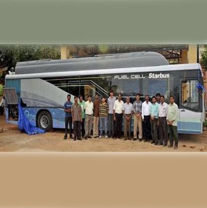 هند نخستین اتوبوس هیدروژنی ساخت این کشور را آزمایش کرد