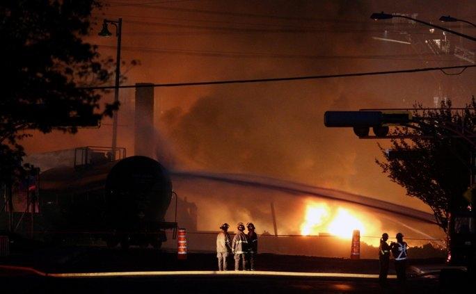 تصاویری از انفجار قطار باری در کانادا