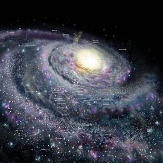 برخورد کهکشان ذاه شیری با کهکشان همسایه