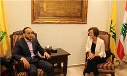 نماینده اتحادیه اروپا با عضو ارشد حزب الله دیدار کرد