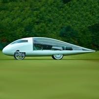 طراحی خودروی خورشیدی به شکل قطره آب