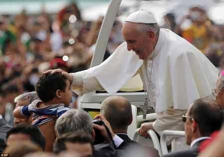 مراسم عشا ربانی پاپ در برزیل