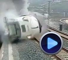 حادثه خروج قطار از ریل در شمال غرب اسپانیا