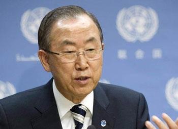 بان کیمون: اعلام نتایج بازرسیها در سوریه ۲ هفته زمان میبرد