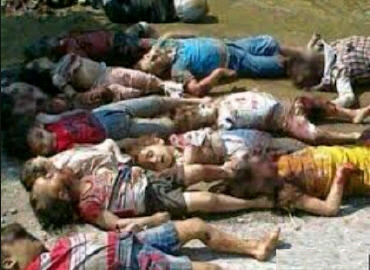 قتل عام ۱۲۰ کودک و ۳۳۰ زن و سالمند سوری توسط تروریست ها
