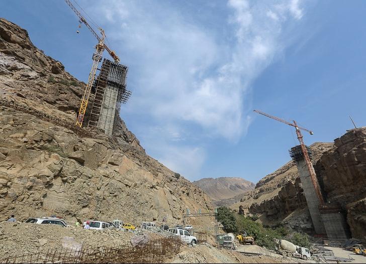 بازدید وزیر راه و شهرسازی از قطعه اول آزاد راه تهران - شمال