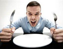 وقتی عصبانی هستید، هرگز غذا نخورید!