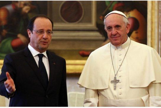 دیدار پاپ و اولاند در میان تدابیر شدید امنیتی