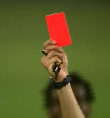 کارت قرمز داور