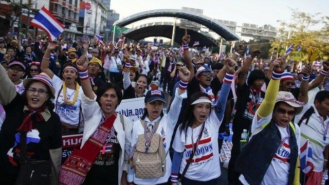 معترضان تایلندی بهدنبال تعطیلی کامل بانکوک هستند