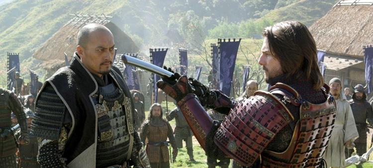 تام کروز و کن واتانابه در فیلم سینمایی آخرین سامورایی
