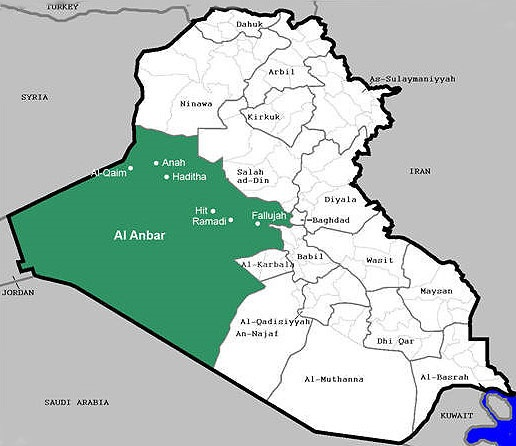 داعش در آستانه تسلط کامل بر استان الانبار عراق
