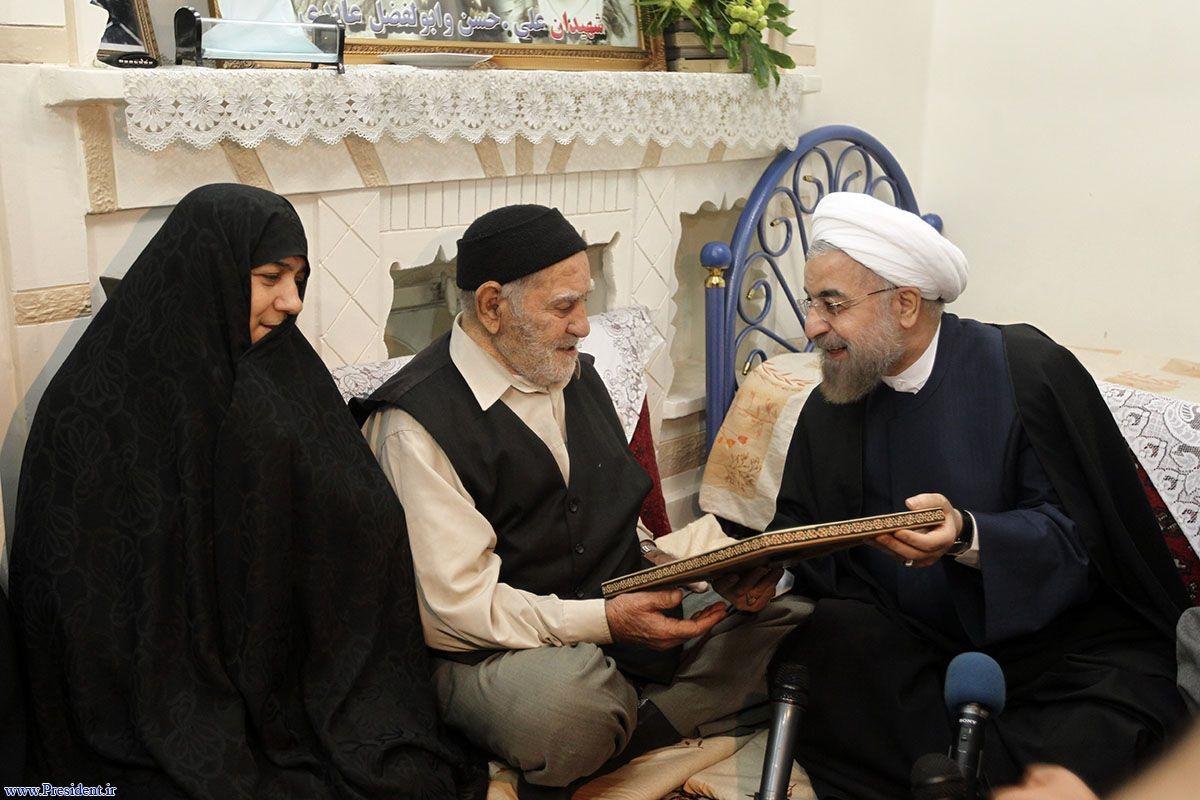 دیدار با خانواده شهیدان عابدی