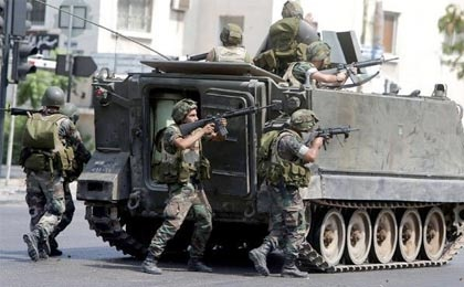 درگیری ارتش لبنان با تروریست ها در اطراف عرسال