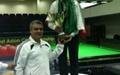 سهیل واحدی نایب قهرمان و وفایی نفر سوم مسابقات اسنوکر شش توپ قطر شدند