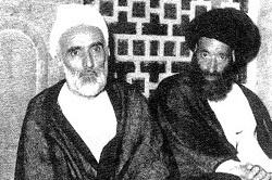آیتالله سید مصطفی صفائی خوانساری در کنار حجتالاسلام والمسلمین حاج شیخ محمدتقی فلسفی