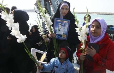 گلباران محل شهادت شهدای عملیات مروارید در خلیج فارس