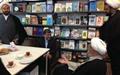 علی جنتی در کتابفروشی انصاریان قم به دیدار علما رفت