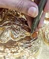 تصاویر قلمزنی ضریح جدید حضرت عباس (ع)