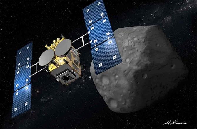 شکارچی سیارک ژاپنیها در جستجوی حیات