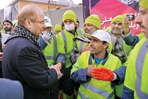 نیروهای داوطلب خدمت رسانی به زائران حسینی با کاور شهرداری تهران در کربلا حاضر شدند