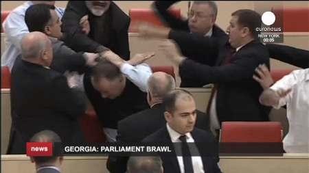 زدوخورد درمجلس گرجستان