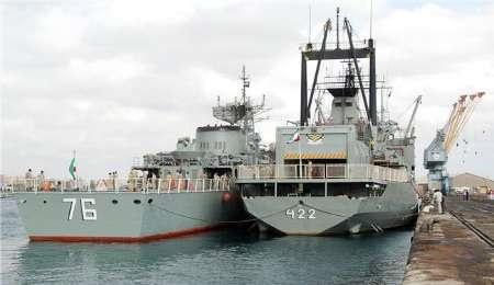 ناوگروه نیروی دریایی ارتش وارد عمان شد