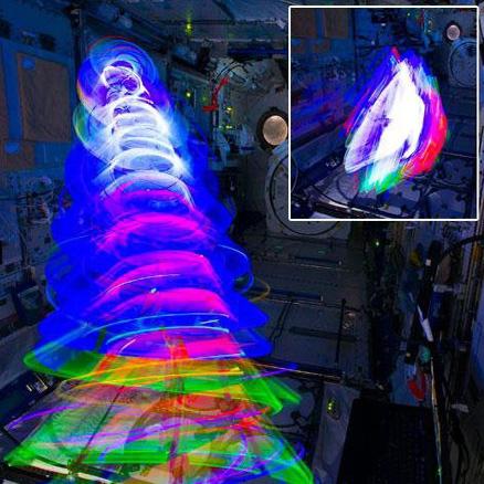 شفق قطبی ساختگی در ایستگاه فضایی