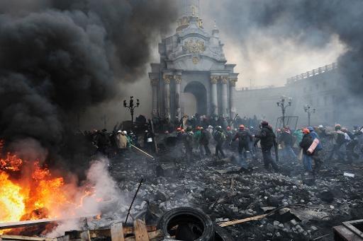 مخالفان دولت اوکراین ساختمان ریاست جمهوری را تصرف کردند