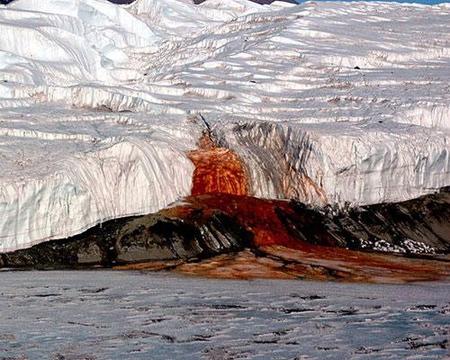 کشف دلیل سرخ بودن آبشار خون در قطب جنوب