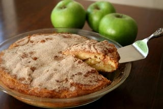 کیک سیب و قهوه