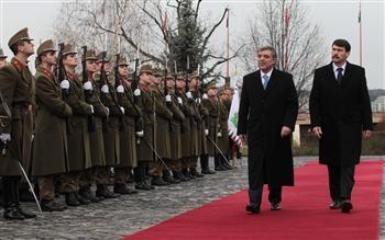 دیدار روسای جمهور ترکیه و مجارستان