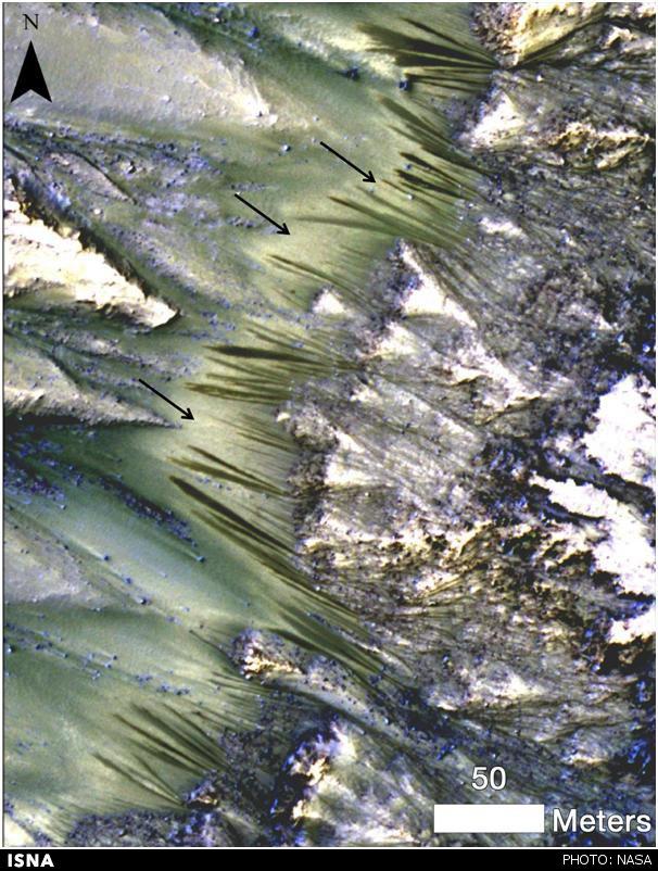 کشف نشانههایی از احتمال جریان داشتن آب در مریخ