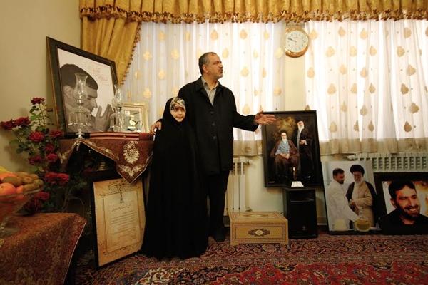 مسجد جامعی در دیدار از خانواده شهید طهرانی