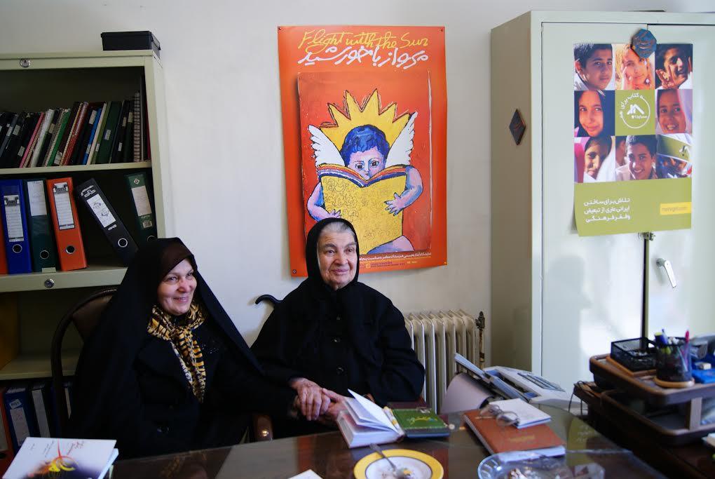 دیدار زهرا گیتینژاد با بنیانگذار شورای کتاب کودک
