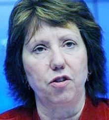کاترین اشتون، مسئول سیاست خارجی اتحادیه اروپا در