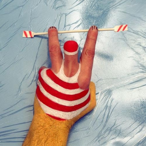 دستهای ورزشکار یک هنرمند