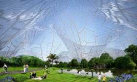 مجالی برای تنفس هوای پاک در پروژه پوشش حبابی