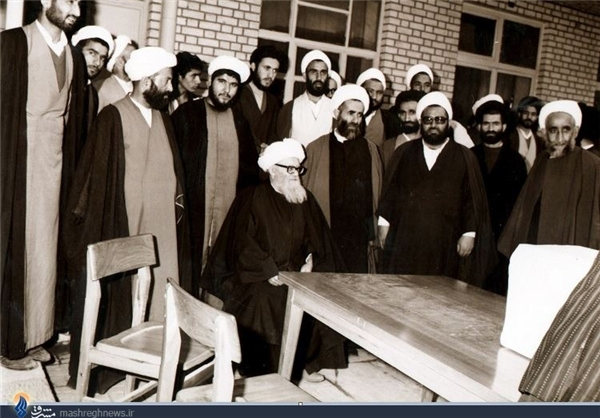 تصویر پدر لاریجانیها در رأیگیری ۱۲ فروردین