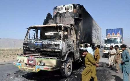 انفجار در پاکستان خودرو ناتو