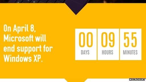 آغاز شمارش معکوس پشتیبانی از ویندوز XP