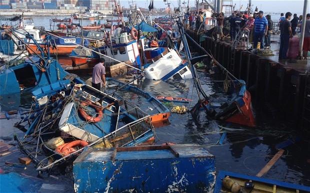 سونامی بعد از زلزله به شیلی زد
