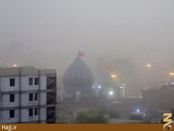 تصاویر گرد و غبار شدید در کربلا؛ هجوم دوباره ریزگردها