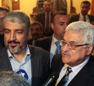 عباس و مشعل در دوحه با هم دیدار کردند