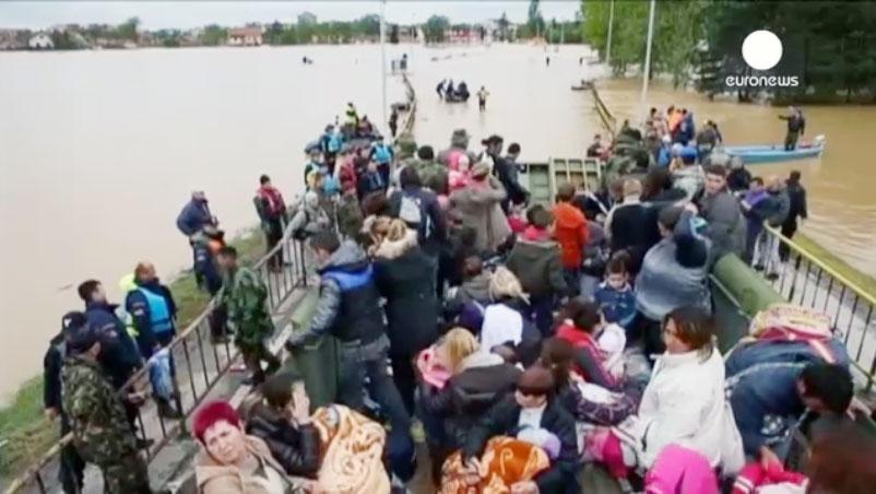 طغیان مرگبار رودخانه ساوا در منطقه بالکان