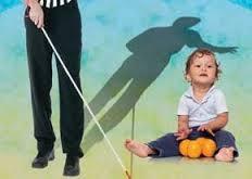 کودک و نابینا