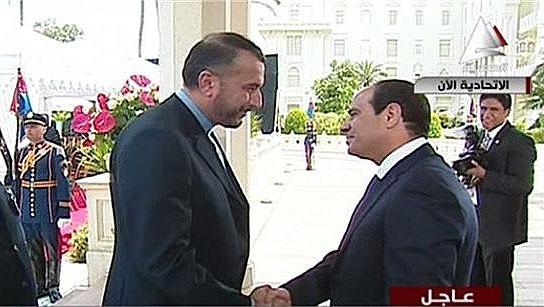 استقبال السیسی از معاون وزارت خارجه ایران